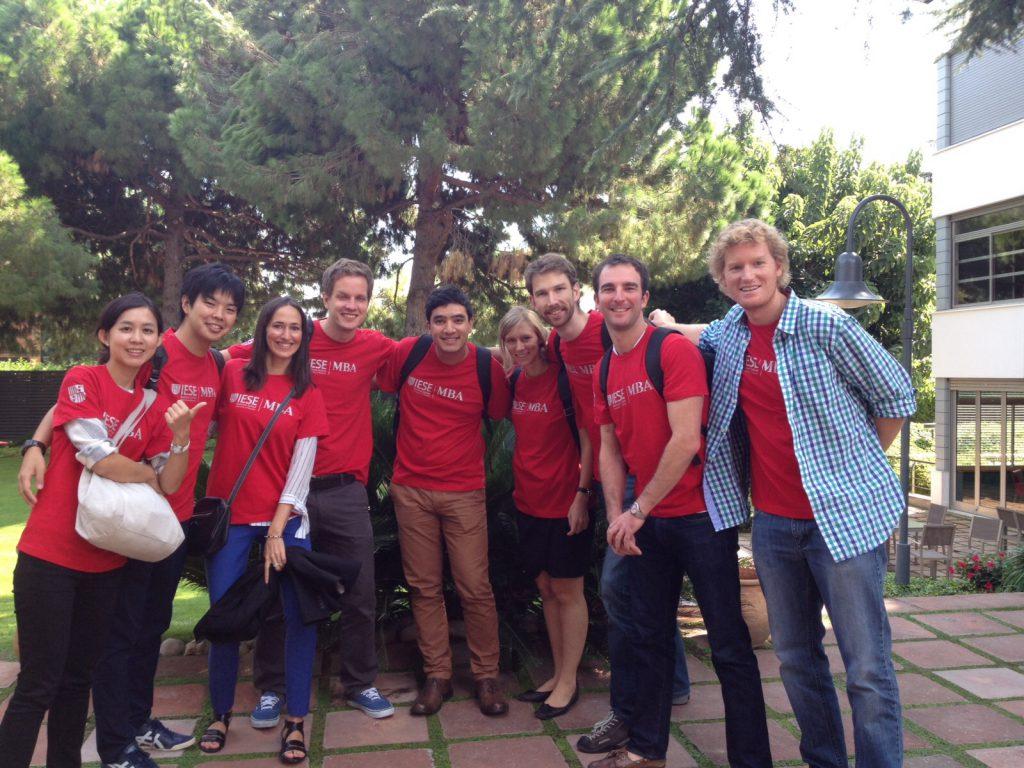 De gauche à droite: Sannie (Taiwan), Yasu (Japon), Iratxe (Bilbao), David (UK), Diego (Colombie), Caroline (Canada), moi, Cavin (Californie) et Matt (Afrique du sud)